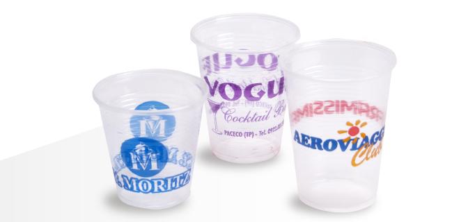 Bicchiere monouso in polipropilene trasparente