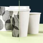 Bicchieri in cartoncino biodegradabili + PLA Stampate