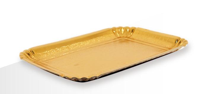 vassoi cartone dorati
