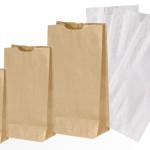 Sacchetti carta Kraft bianchi e avana