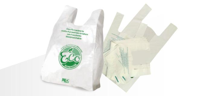 Buste Shoppers biodegradabili e Compostabili